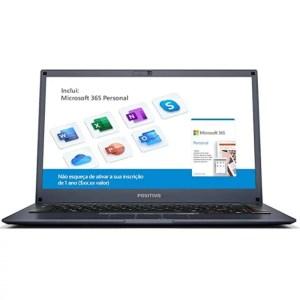 """Notebook Positivo Motion Tela 14"""" Q 4128b Intel Quad-core Ssd 128gb 4"""