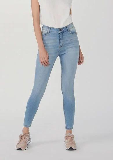 Calça Feminina Jeans Cigarrete Soft Touch