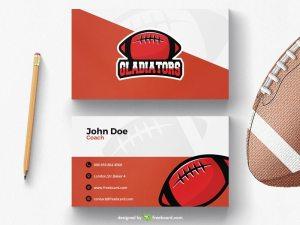 American football business card