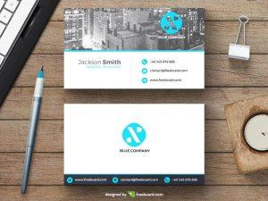 Minimal business card with new york skyline