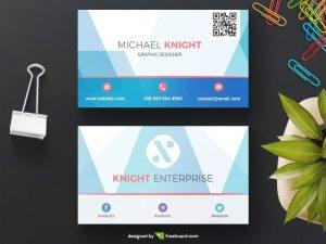 Blue corporate business card template