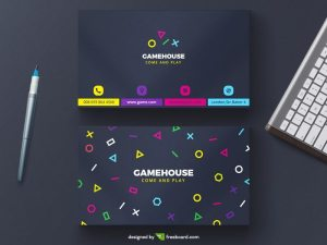 Creative game business card template