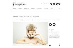 Creative Award The Inspired clean PSD website