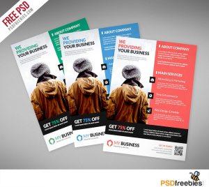 Creative Corporate Business Flyer PSD Template Freebie