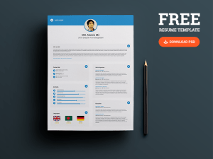 Creative Professional Resume and Business Card PSD