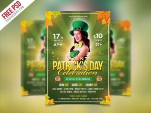 Creative Saint Patrick‰Ûªs Party Flyer PSD Template