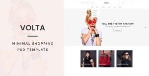 Volta : Minimal Shopping PSD Template