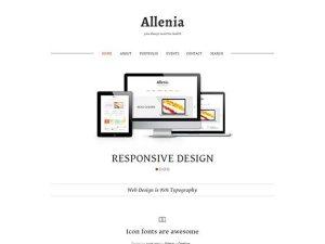 Creative Allenia ‰ÛÒ PSD website template
