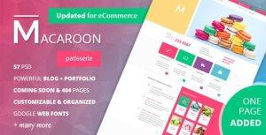 Macaroon - Creative Patisserie PSD Template