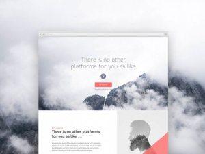 Creative Corporate landing page