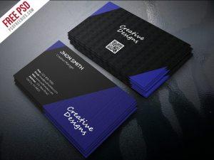 Creative Creative Company Business Card PSD Freebie