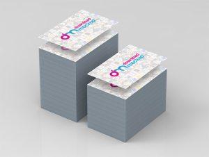 Creative Business Card Stack Mockup Free PSD