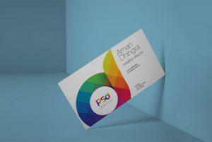 Creative Clean Business Card Mockup Free PSD
