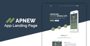 ApNew - App Landing PSD Template