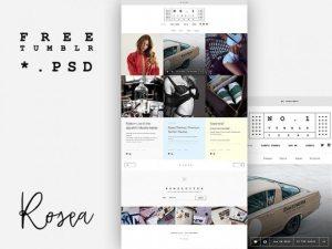 Creative Theme design template for Tumblr