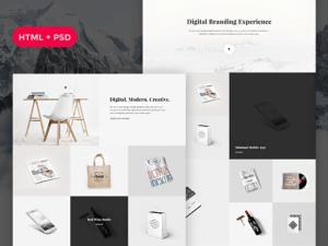 Creative Snow: Free PSD + HTML portfolio template