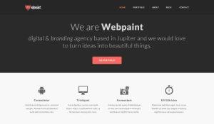 Creative Webpaint ‰ÛÒ free PSD website template