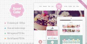 Sweet Cake - One Page PSD Theme