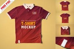 Collar T-Shirt Mockup Collection [3 Psd Mockups]