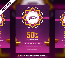 Diwali Flyer Free PSD Template