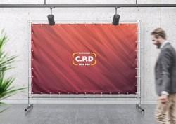 Press Wall Advertising Mockup Free PSD