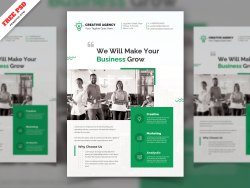 Corporate Creative Agency Flyer Freebie PSD