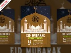 Eid Mubarak Flyer Free PSD