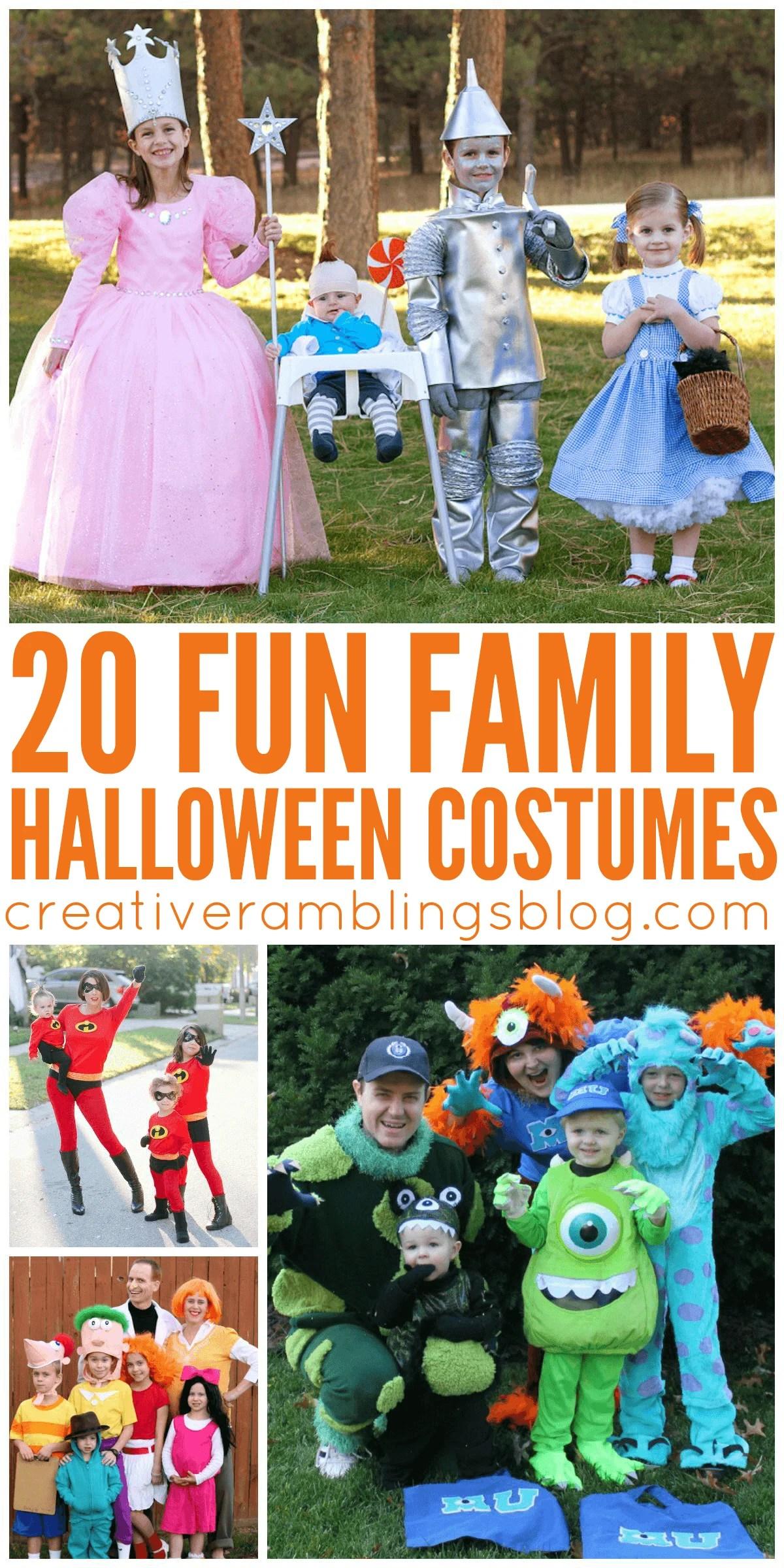 20 Fun Family Halloween Costumes