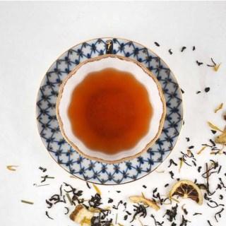 Citrus Tea Cup and Saucer