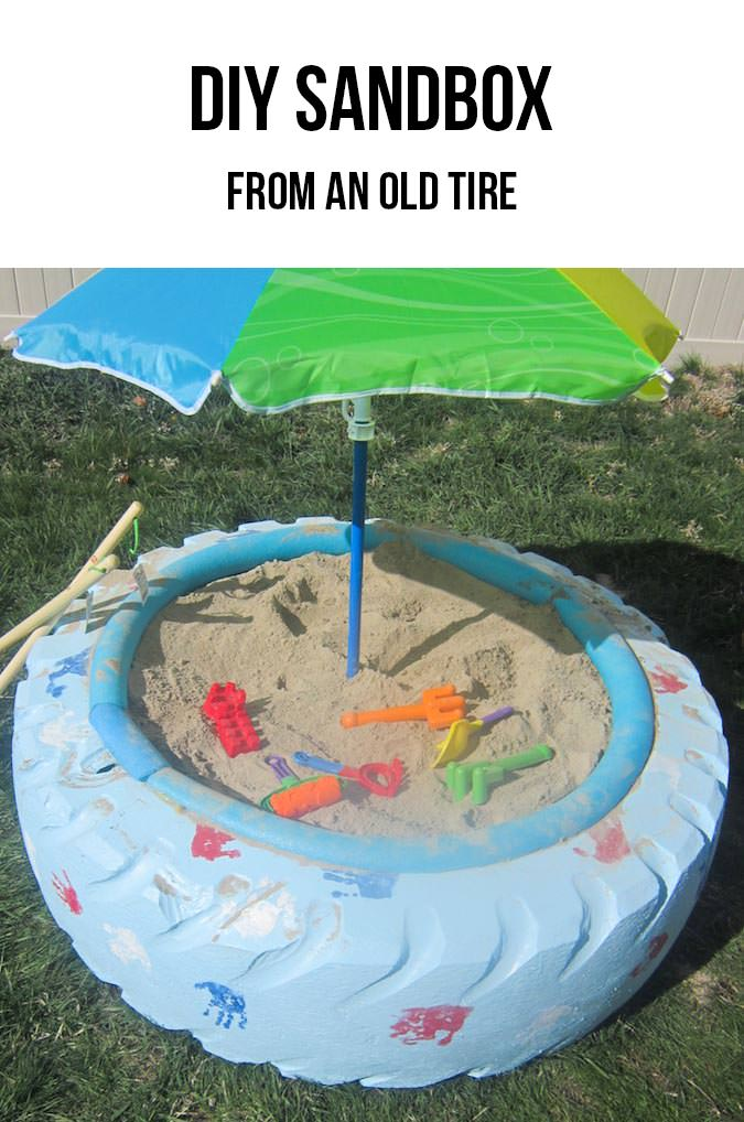 Diy Kids Project Tractor Tire Upcycled Into Sandbox