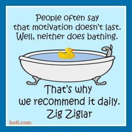 motivation bathing
