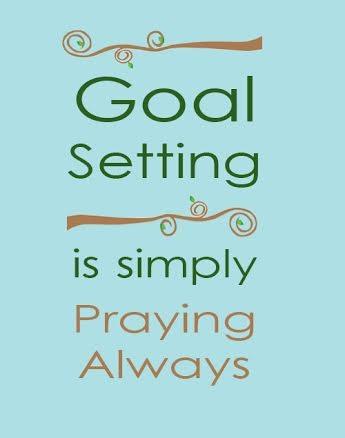 goal setting prayer