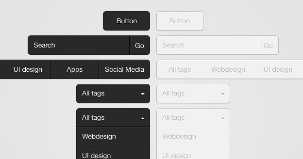 Clean Dropdown UI 40+ Free Web Elements