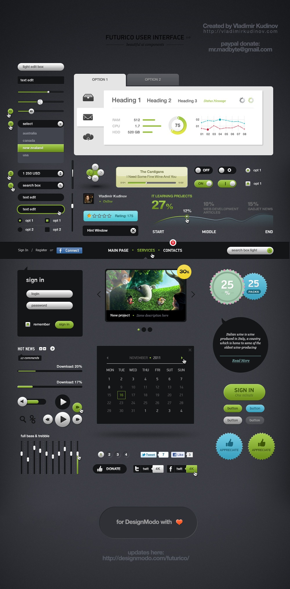 futurico   free user interface elements pack by prorock d4gxms7 40+ Free Web Elements