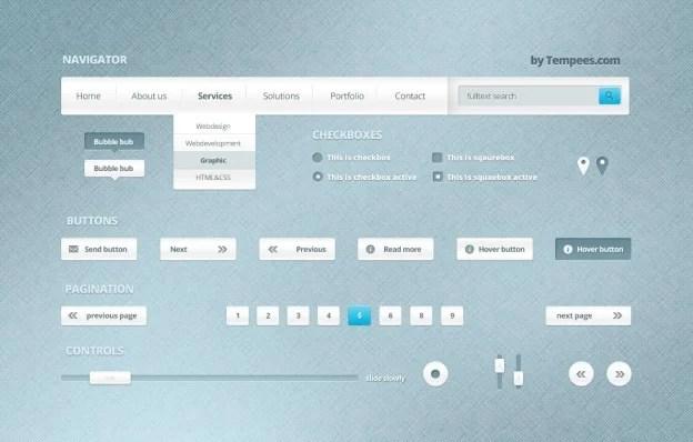 webelements kit by sonjoe d5oemam e1359547669142 40+ Free Web Elements
