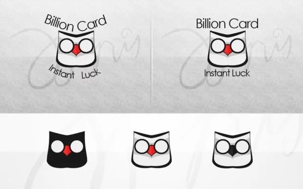 Billion Card Logo by Inphoar e1366526040653 35 Owl Logo designs For Your Inspiration