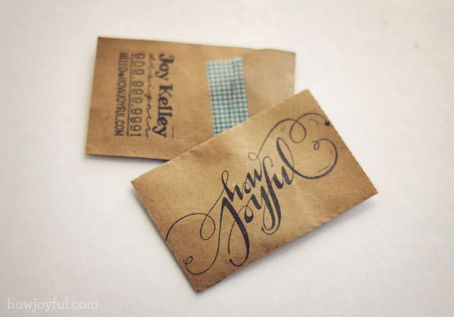 Handmade Business Card Designs Creatives Wall