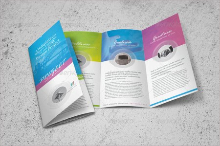 23  Online Brochure Templates Free Word Design Formats Clean Trifold Brochure Template
