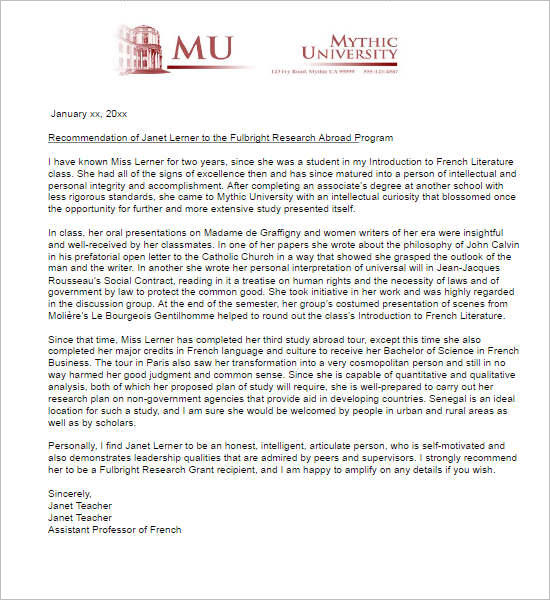 Scholarship recommendation letter template from teacher vaydile scholarship recommendation maxwellsz