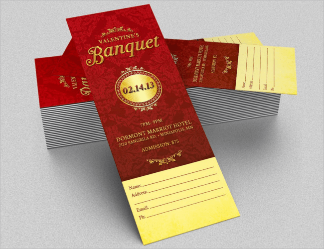 25 Sample Dinner Ticket Templates Free Word PSD Designs