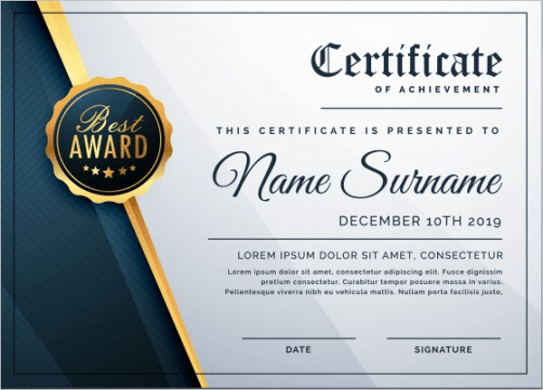 Certificate template free resume examples resume examples certificate template business certificate templates free premium download free business certificate templates accmission Choice Image