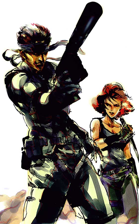 Solid Snake Amp Meryl Art Metal Gear Solid Art Gallery
