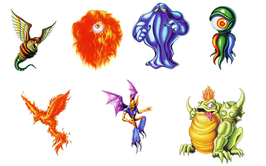 Monster Art Breath Of Fire Art Gallery
