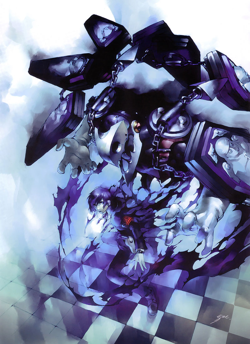 Protagonist Amp Thanatos Art Shin Megami Tensei Persona 3