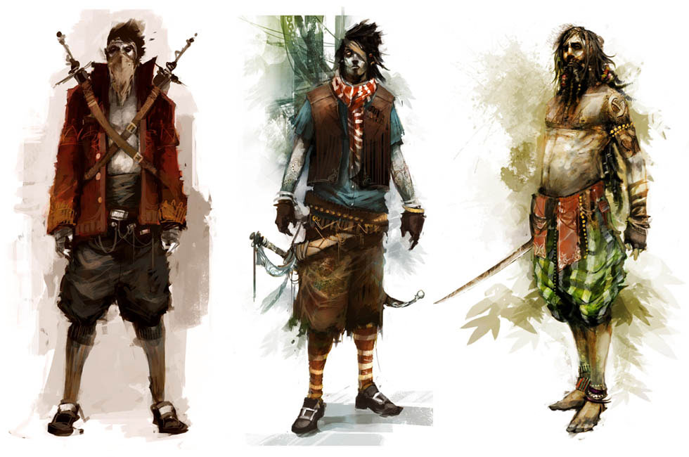 Pirates Characters Amp Art Guild Wars Eye Of The North
