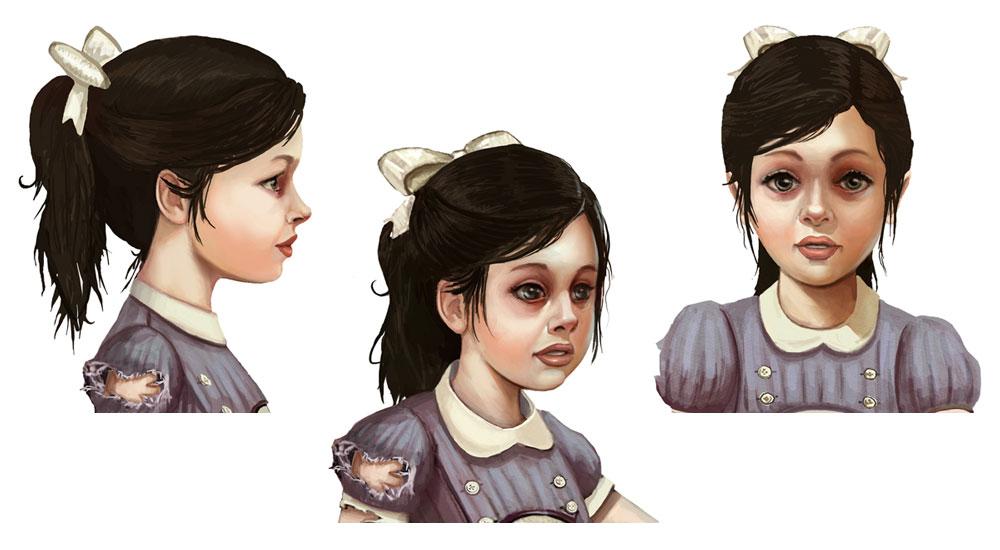 Little Sister Faces Art Bioshock 2 Art Gallery