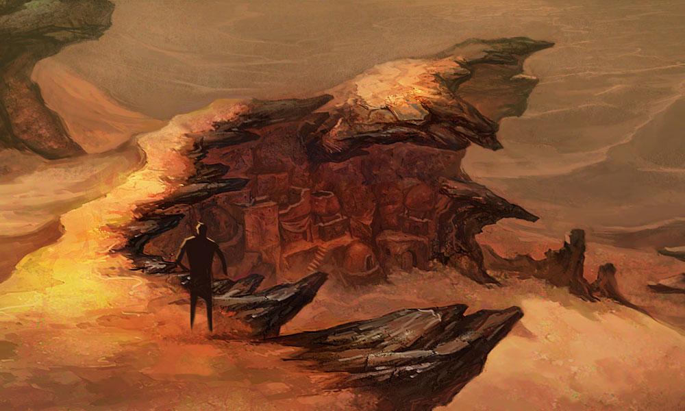 Desert Cliff Art Diablo Iii Art Gallery