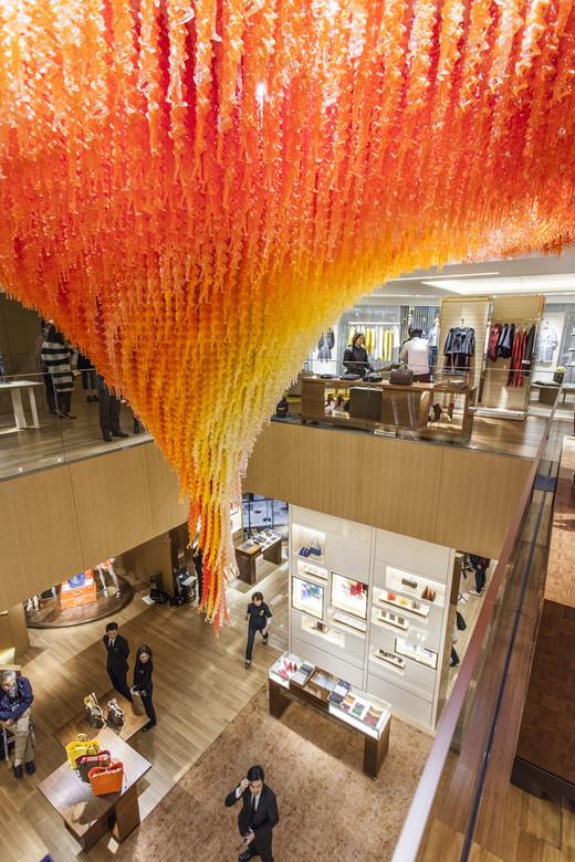 Creative Visual Art Do Ho Suhs New Swirling Chandelier