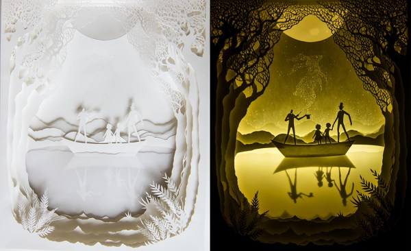 backlit paper sculptures 7