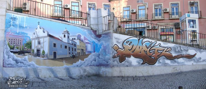 Martim-Moniz-church-Graffiti-Mural-Odeith-Lisboa-Portugal